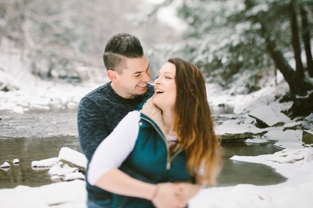 Cleveland Snowy Winter Engagement Session in Chagrin Metroparks 10.jpg
