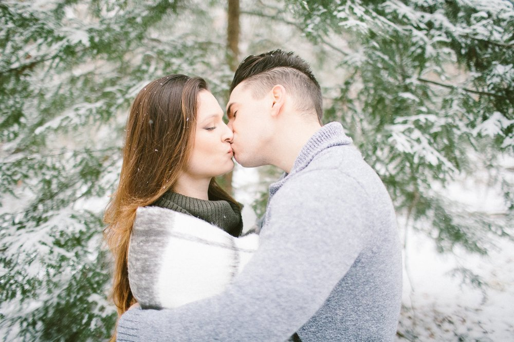 Cleveland Snowy Winter Engagement Session in Chagrin Metroparks 27.jpg