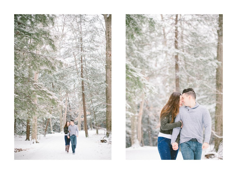 Cleveland Snowy Winter Engagement Session in Chagrin Metroparks 28.jpg