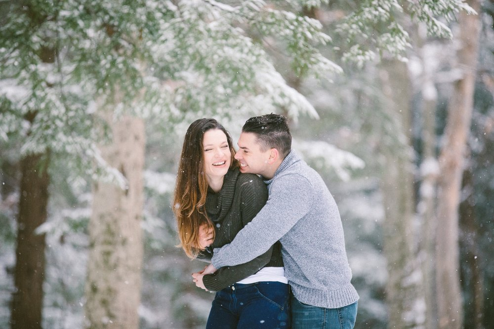 Cleveland Snowy Winter Engagement Session in Chagrin Metroparks 30.jpg