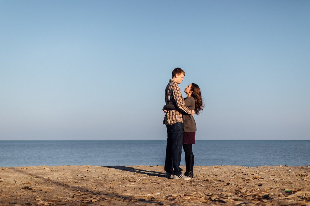 Lakewood Clifton Beach Engagement Photographer 1.jpg