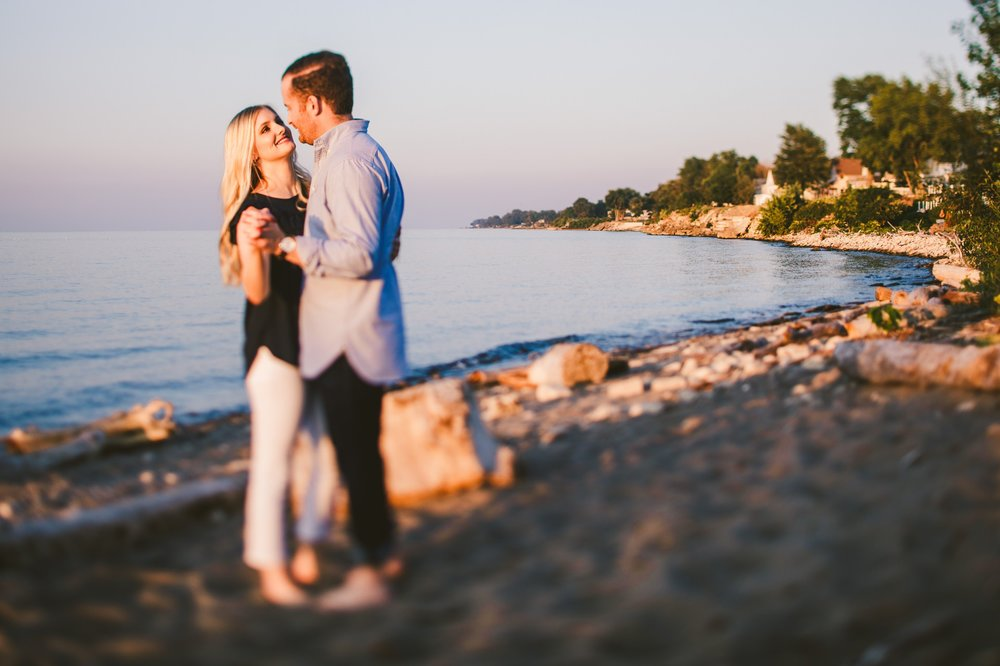 Lake Erie Engagement Shoot by the Beach 15.jpg