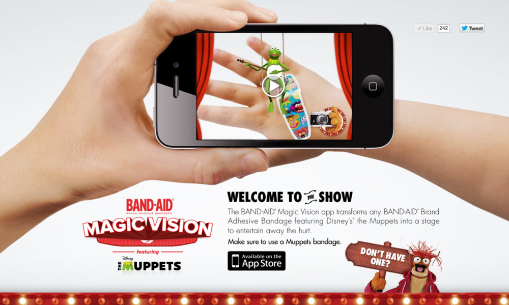 Band-Aid Magic Vision: Screenshot  http://www.band-aid.com/magicvision