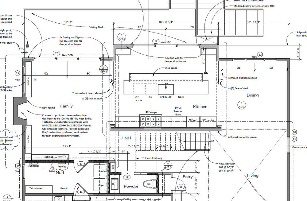 Construction Documents floor plan.