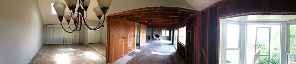 The original livingdiningkitchen room.
