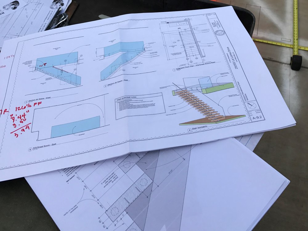 The detail drawings we produce for the project.