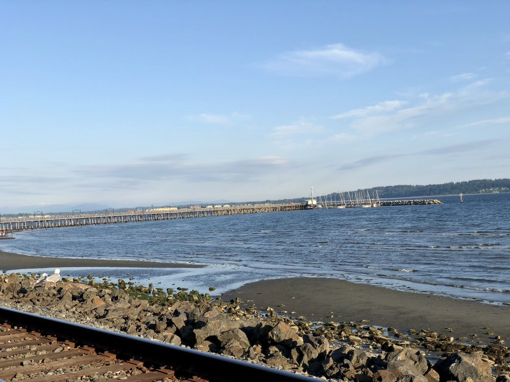 The White Rock Pier as seen from the Promenade.
