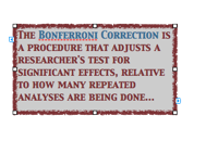 Bonferroni quote box Screen