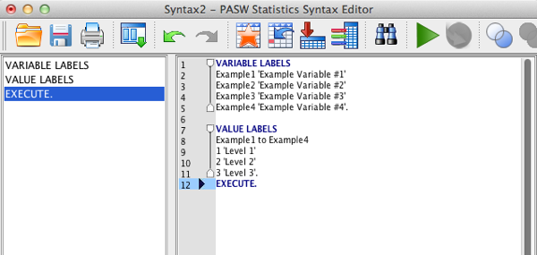 SPSS Syntax screen example 3