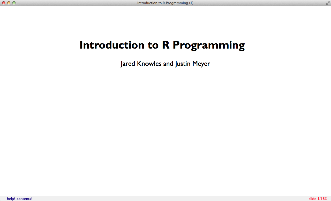 introduction to r programming pdf