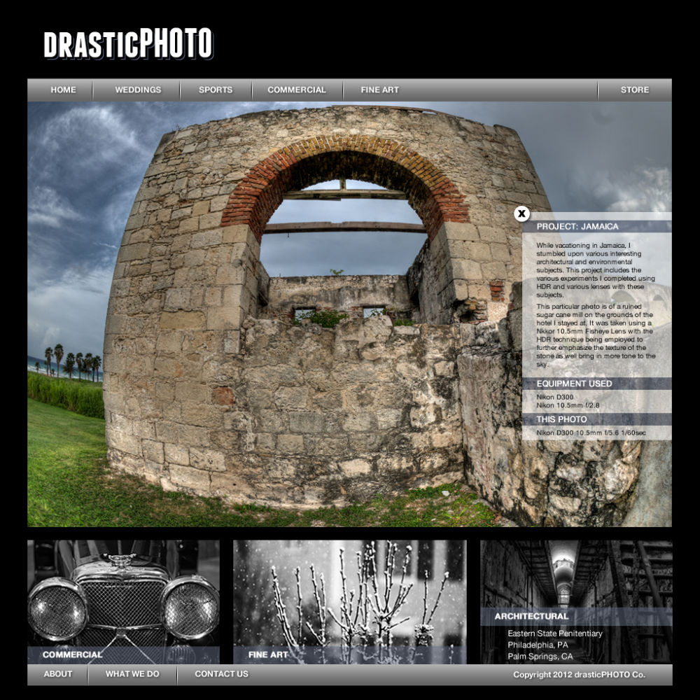DrasticPhoto Website Design