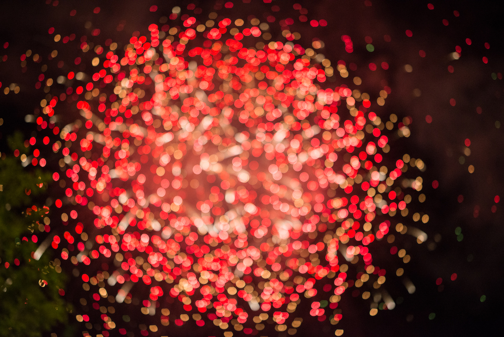 Red Firework Bokeh