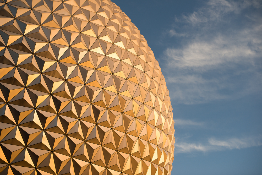 Spaceship Earth at Sunset