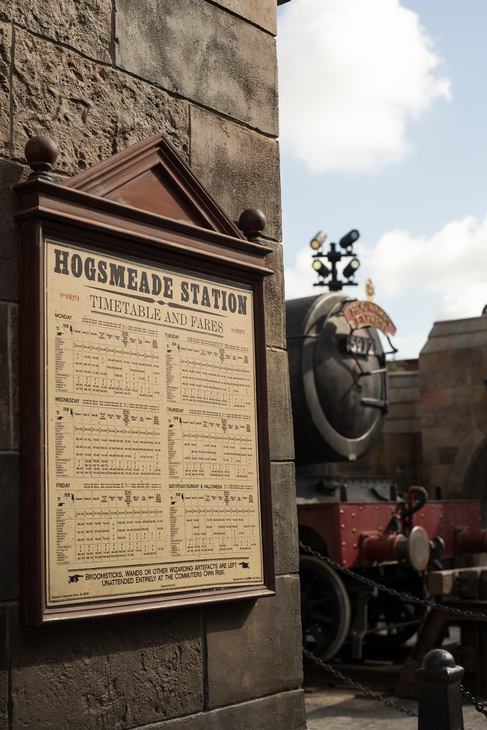 Hogsmeade Station Timetable