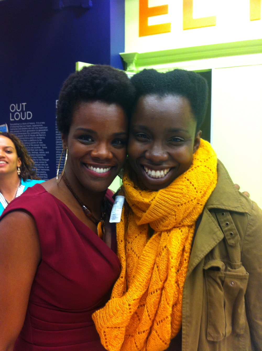 with Adepero Oduye at GEMS fundraiser