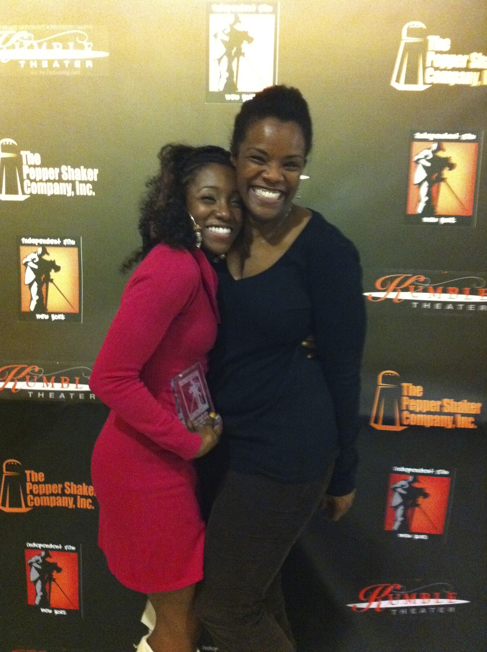 with Krystal Farris winner of the IFNY Monologue Slam