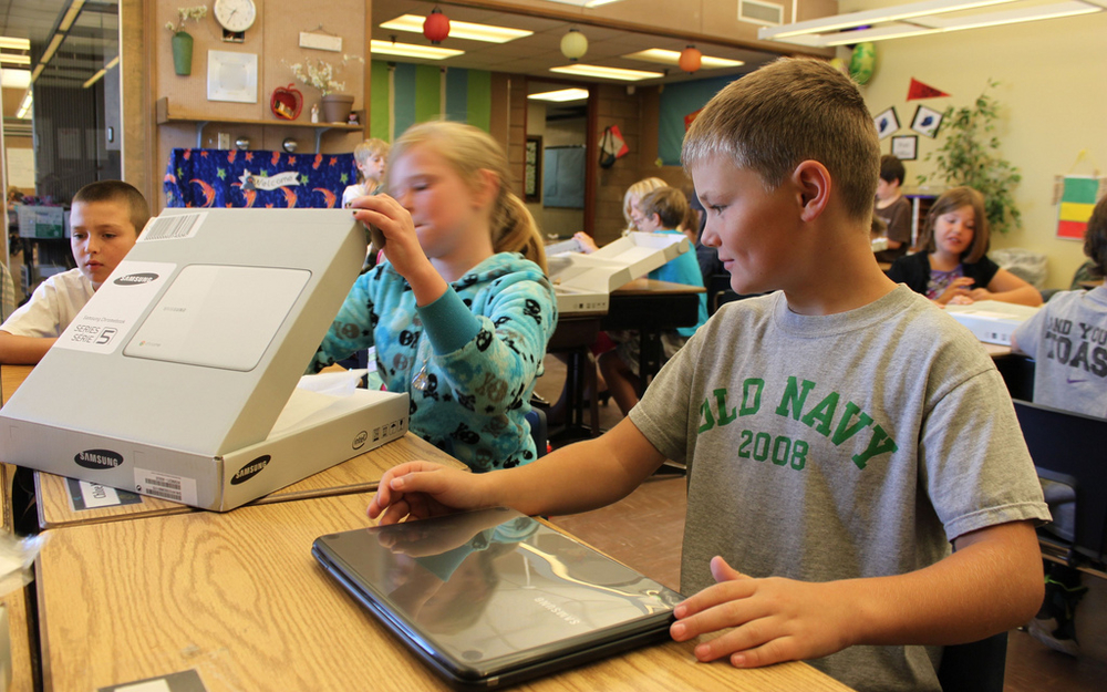 Our most recent rollout day; fourth-grade students in Redmond School District