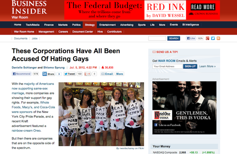 My Chick-fil-A photo on Business Insider