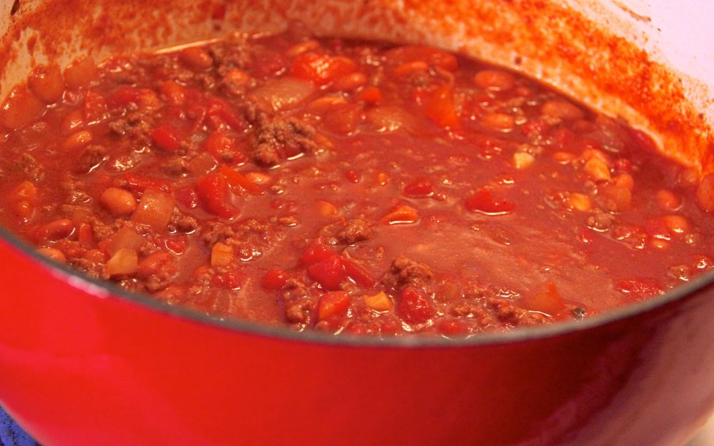 Jubelale Chili (our annual first snow batch)
