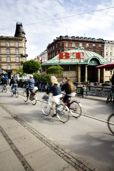 Bikes dominate the roads, as high car taxes dissuade auto ownership