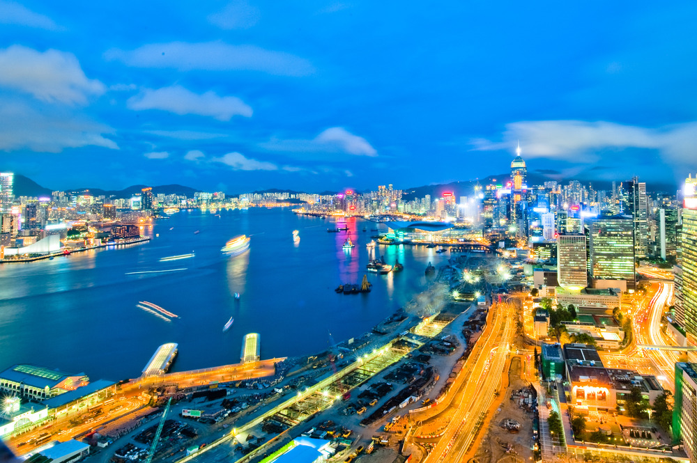 Hong Kong Harbour .  Photo by Sam Gellman Photography.