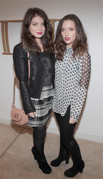 Eve and Jordan Hewson ( Bono Daughters)