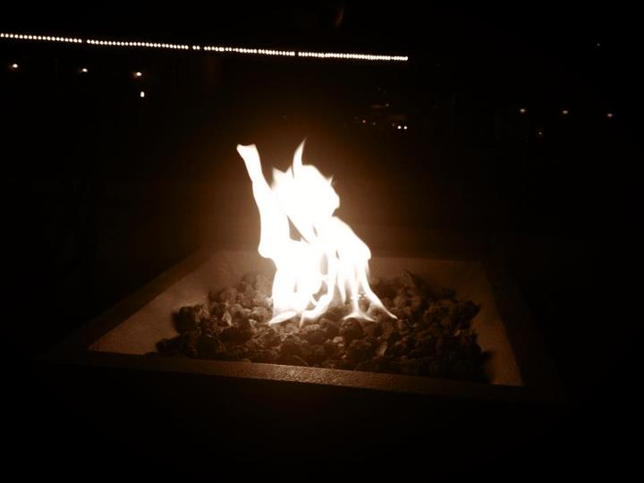 Gas firepits at Hotel Roanoke