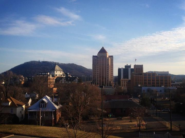 Downtown Roanoke as seen from Our Lady of the Valley