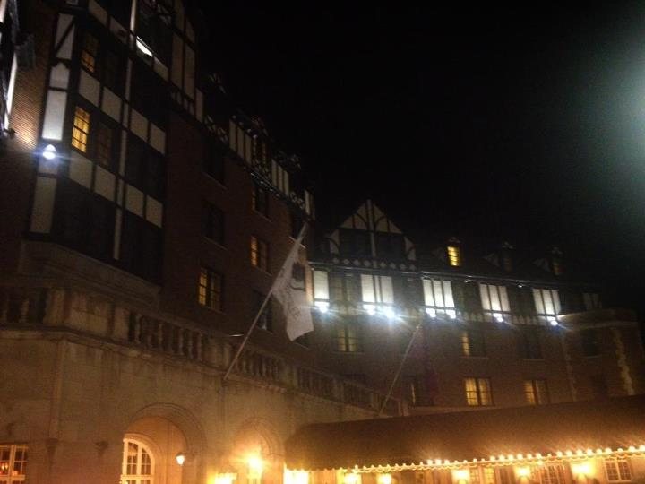 Hotel Roanoke at night