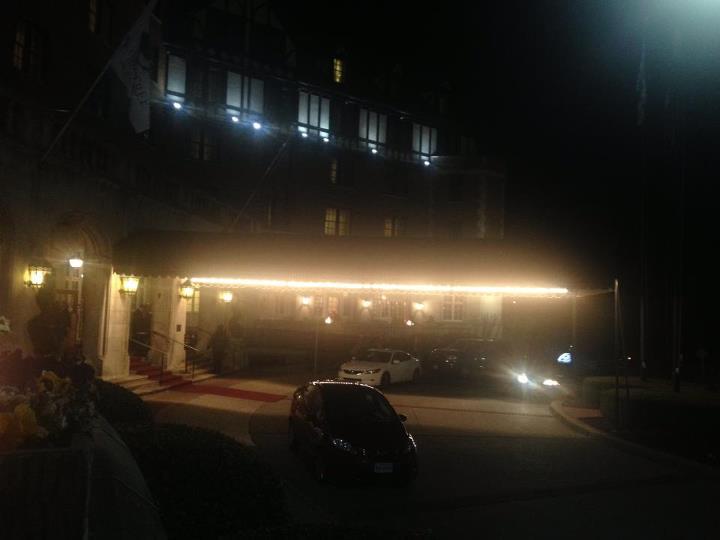 Hotel Roanoke at night