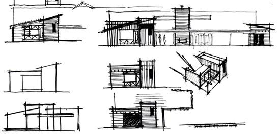 architectural elevation concept sketches / villa park