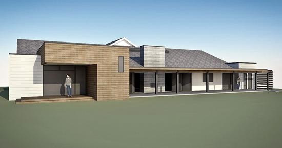villa park modern //  exterior rendering