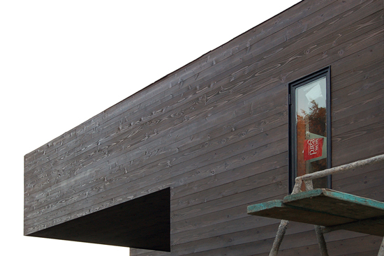 orange county contemporary construction + cedar siding
