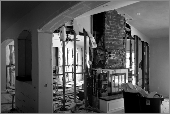 entry / hall demolition