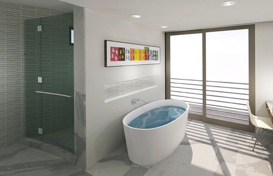 Master Bath | floating bath