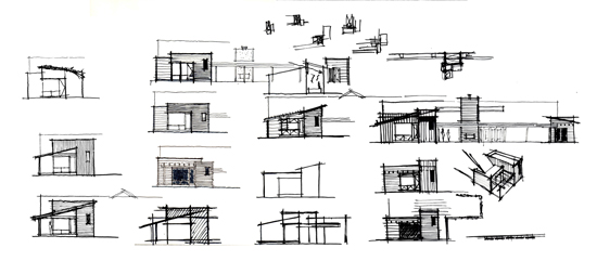 Modern House Architecture Sketches Elevation Plan