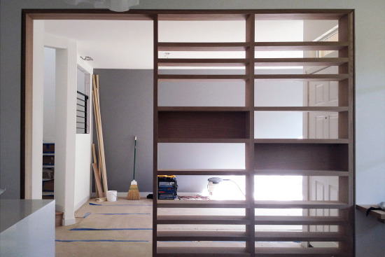 room divider // oak screen