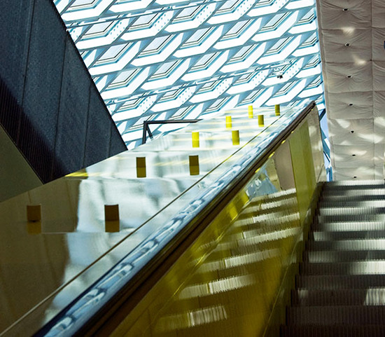 seattle central library / escalator
