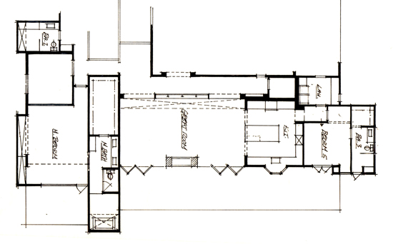 floor plan sketch of new construction