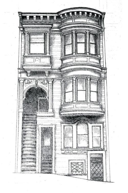 Red House Drawing: Drawing San Francisco... / MYD Blog / Moss Yaw Design Studio
