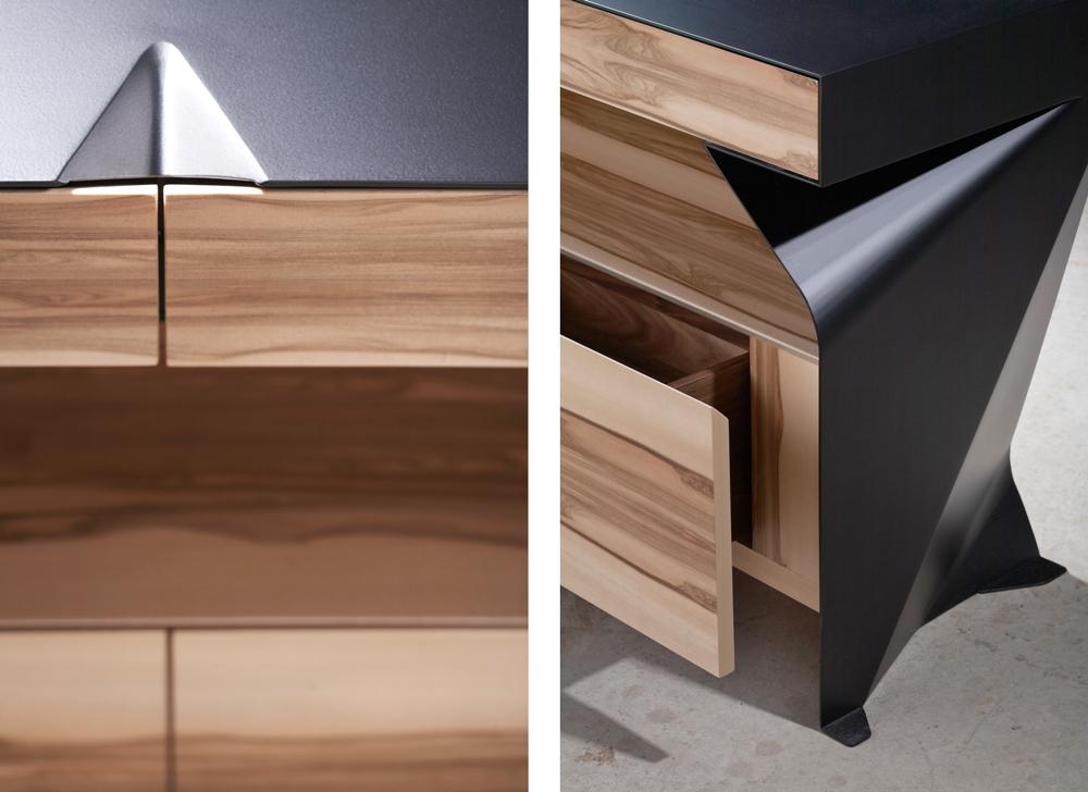 C1 Credenza | metal + wood details