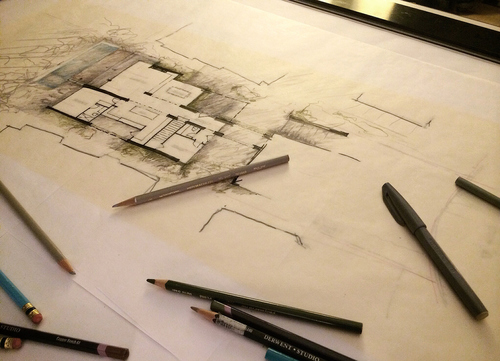 Time-Lapse Design: A Hand-Rendered Floor Plan