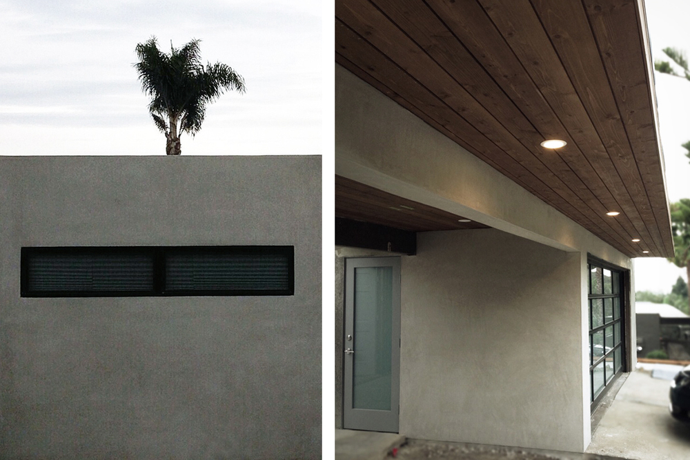 smooth stucco + new linear window