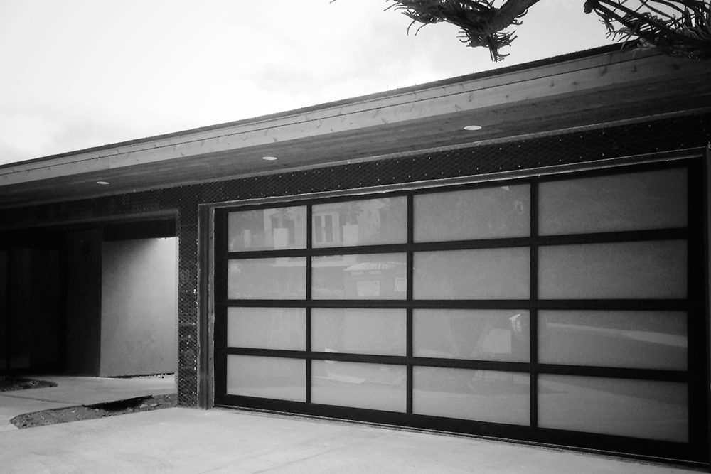 new metal + glass garage door