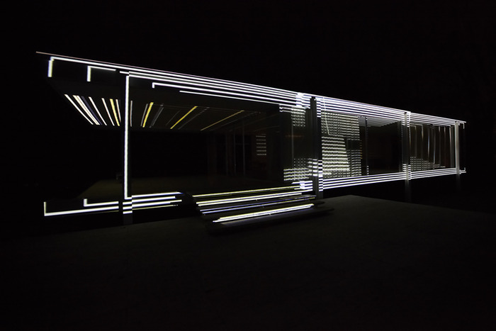 Transforming the Farnsworth House with Light, Sound + Digital Projection Technology