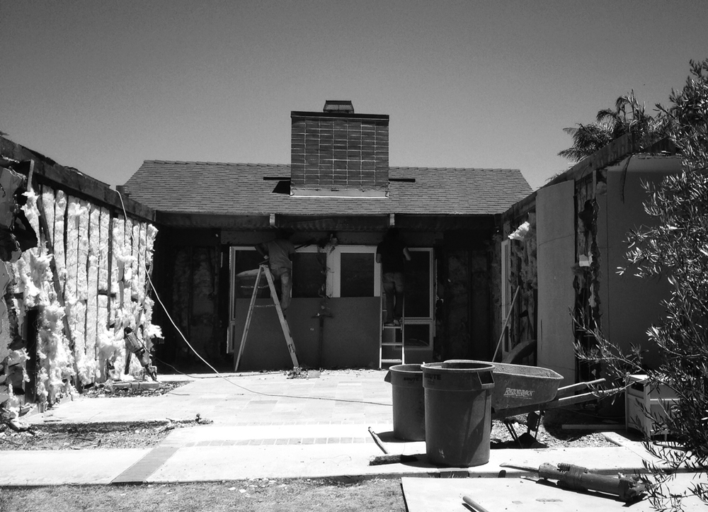 demolition / entry courtyard