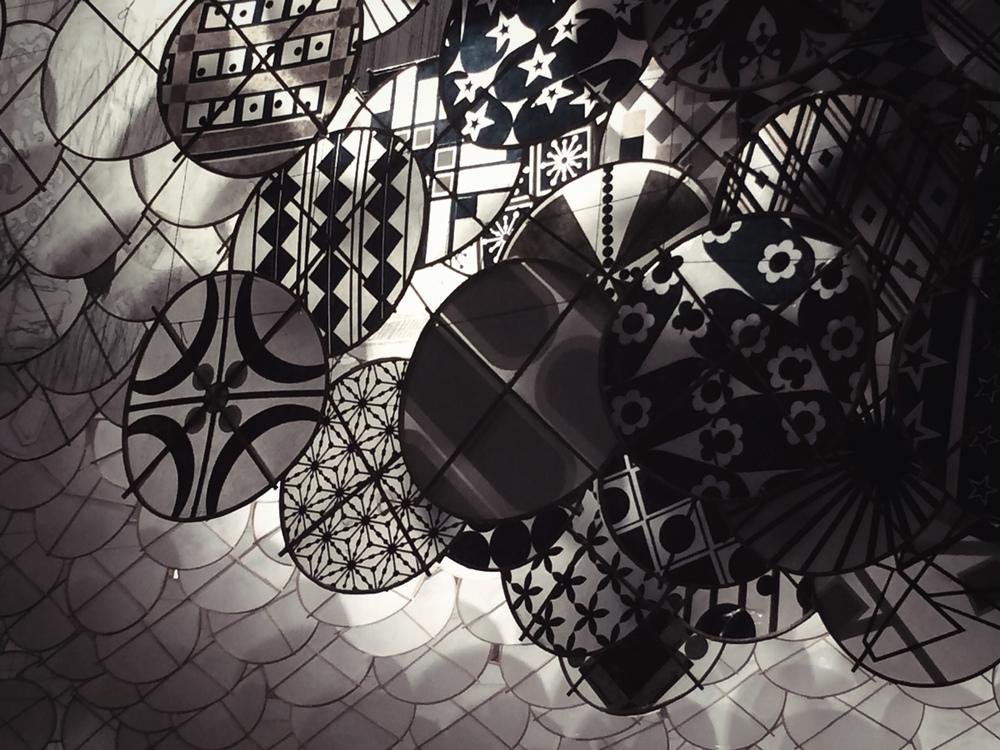 paper kite detail / gas giant by jacob hashimoto