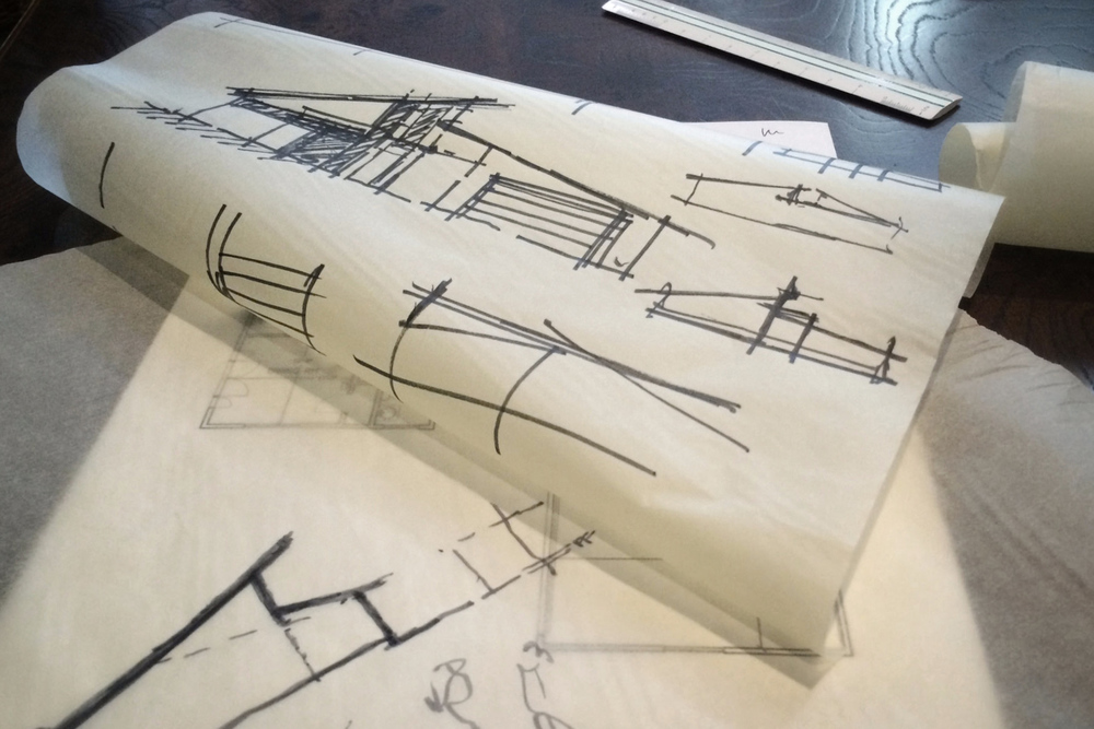 architectural sketches / elevation studies