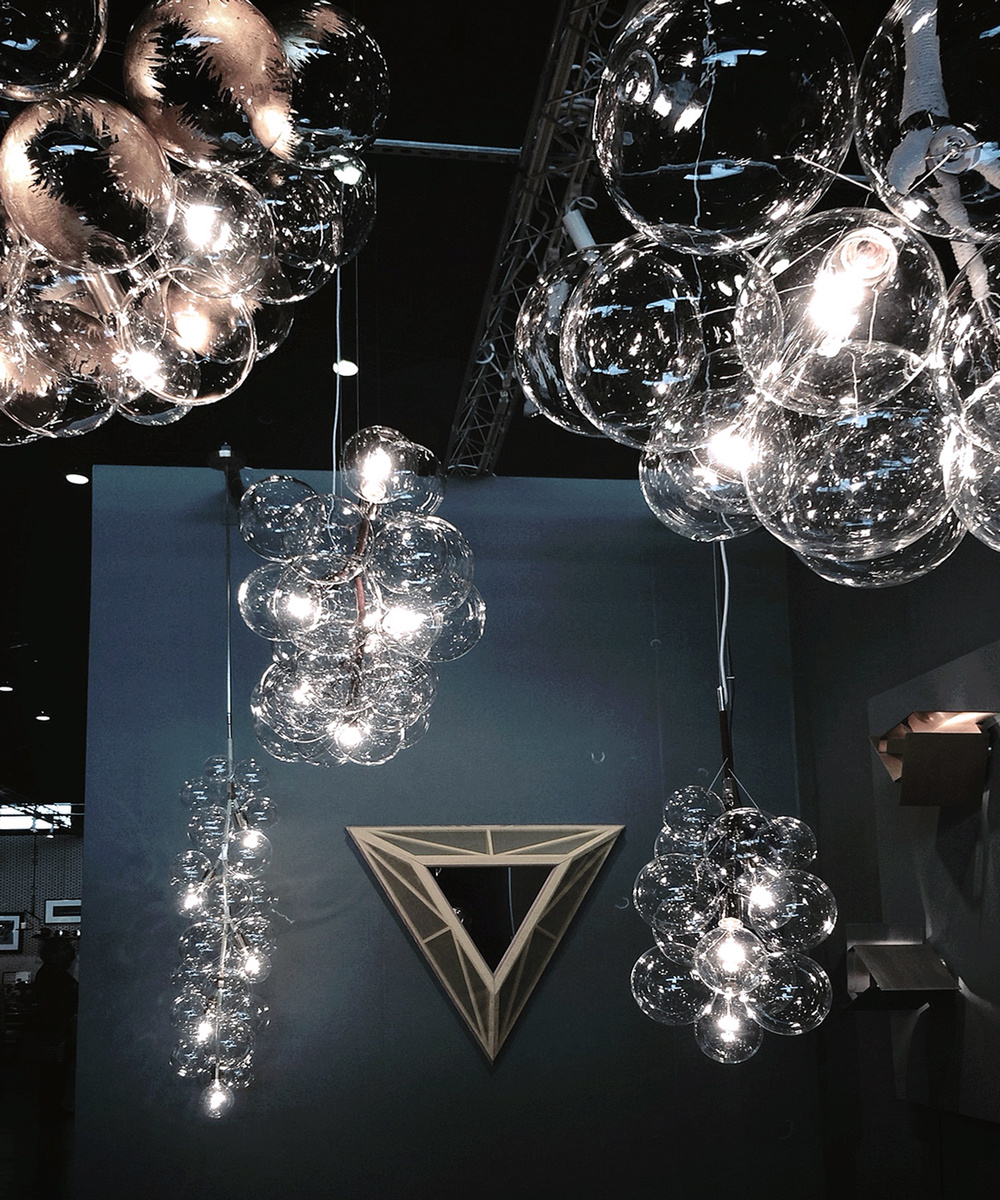 PELLE Designs  //  bubble chandeliers