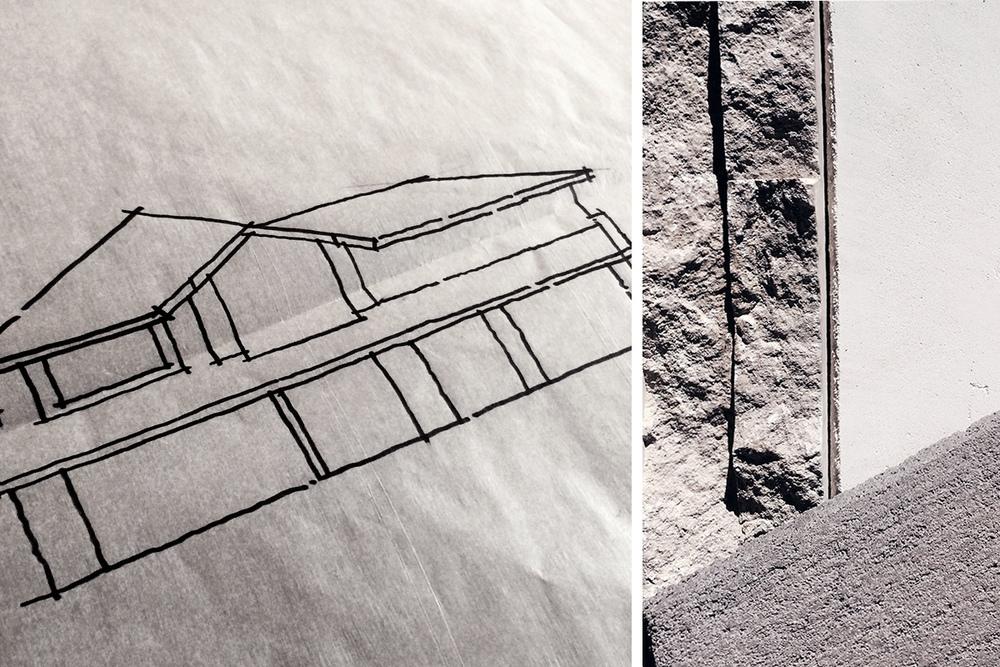 preliminary elevation // exterior materials: stucco + stone